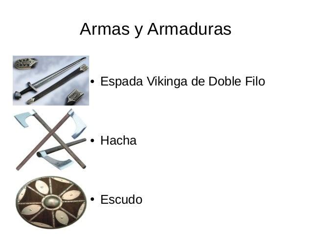 Armas y Armaduras ● Espada Vikinga de Doble Filo ● Hacha ● Escudo