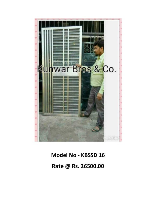Model No - KBSSD 16C Rate @ Rs. 26500.00 ...  sc 1 st  SlideShare & Ss doors images and rate