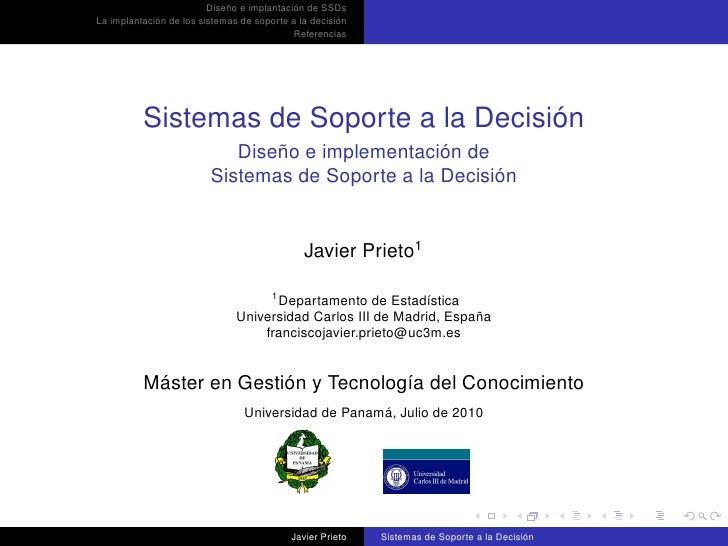 Diseño e implantación de SSDs La implantación de los sistemas de soporte a la decisión                                    ...