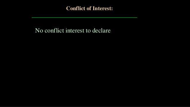 No conflict interest to declare Conflict of Interest:
