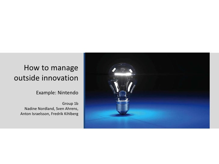 26.01.11<br />Stockholm School of Economics - Media Management 2011<br />1<br />How to manage outside innovation<br />Exam...