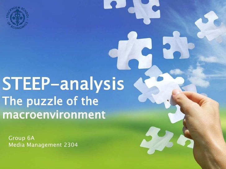 STEEP-analysis<br />The puzzle of the macroenvironment<br />Group 6A<br />Media Management 2304<br />