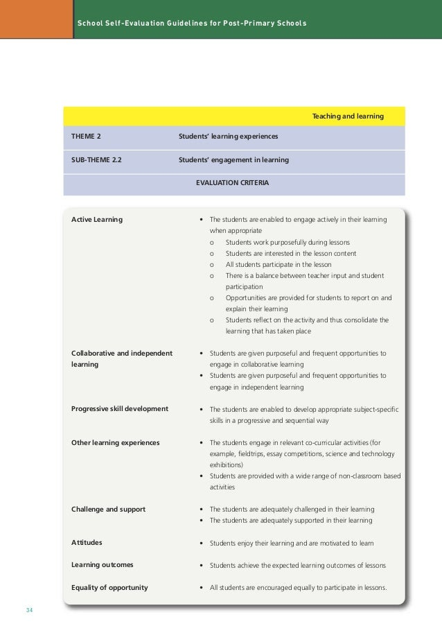guidelines for self evaluation of group Feasibility of peer assessment and clinical audit to self-regulate the quality of   compliance to programme guidelines and shared responsibility for group.