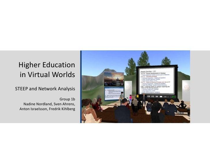 06.02.11<br />Stockholm School of Economics - Media Management 2011<br />1<br />Higher Education<br />in Virtual Worlds<br...