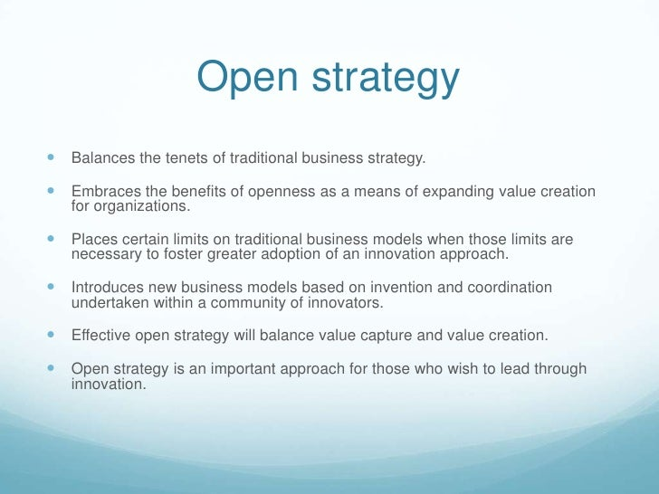 Sse open innovation and strategy group2b_2011 Slide 3