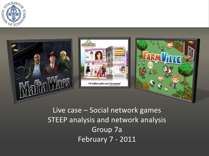 Live case – Social network games<br />STEEP analysis and network analysis<br />Group 7a<br />February 7 - 2011<br />
