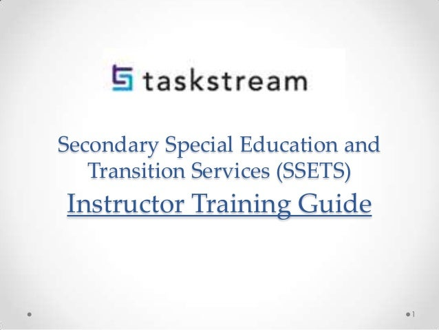 Secondary Special Education and Transition Services (SSETS)  Instructor Training Guide  1