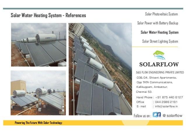 Solarflow Solar Power Solar Water Heater Led Chennai