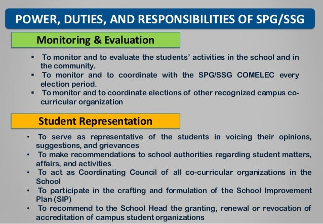 Ssg and spg constitution deped