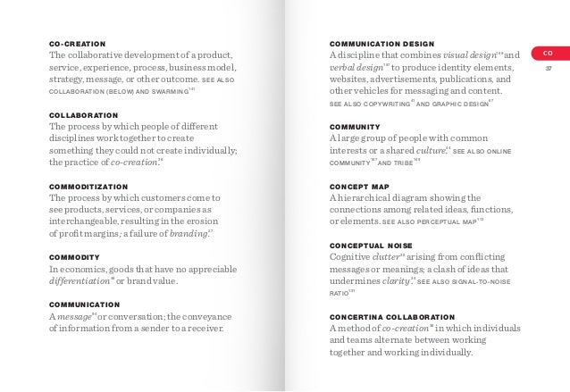 CO-CREATION  The collaborative development of a product, service, experience, process, business model, strategy, message, ...