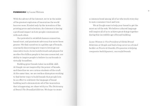 FOREWORD  3  by Lucas Watson  With the advent of the Internet, we're in the midst of the greatest explosion of innovation ...