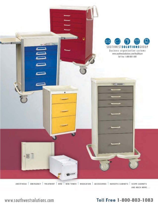 ANESTHESIA EMERGENCY TREATMENT MINI MINI TOWER MEDICATION ACCESSORIES NARCOTIC CABINETS SCOPE CABINETS  AND MUCH MORE. . ....