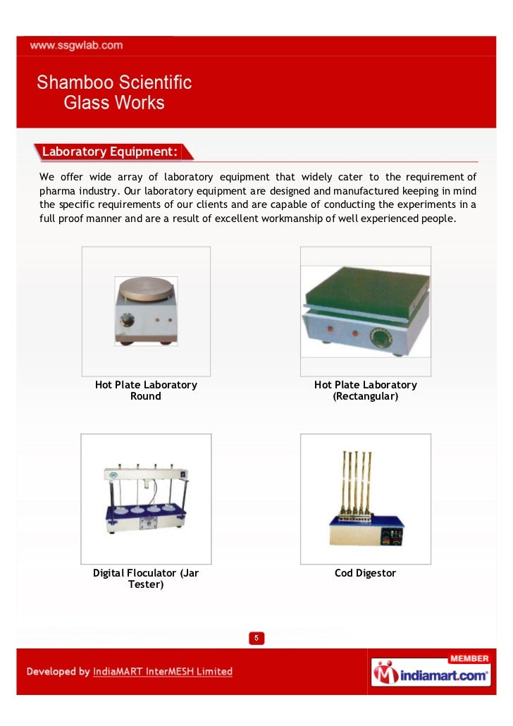 Laboratory Equipment:We offer wide array of laboratory equipment that widely cater to the requirement ofpharma industry. O...