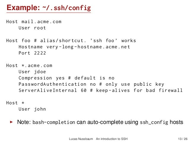 An introduction to SSH