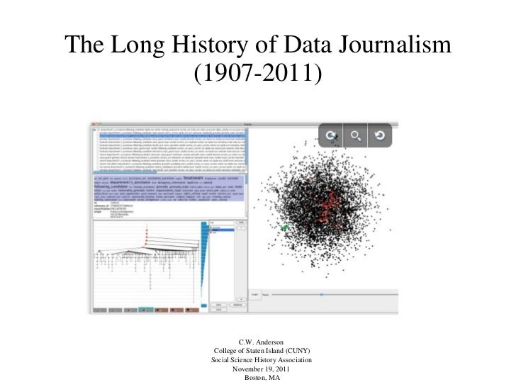 The Long History of Data Journalism (1907-2011) <ul><li>C.W. Anderson  </li></ul><ul><li>College of Staten Island (CUNY) <...