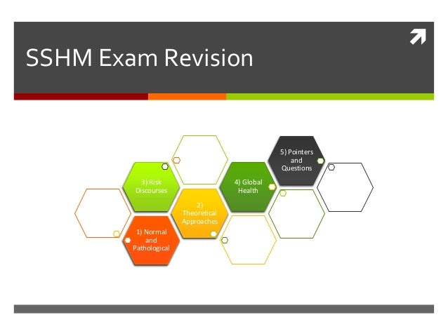  SSHM Exam Revision 1) Normal and Pathological 2) Theoretical Approaches 3) Risk Discourses 4) Global Health 5) Pointers ...
