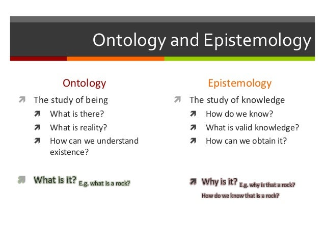 epistemology definition in research The interpretivist paradigm developed as a critique of positivism in the social sciences in general, interpretivists share the following beliefs about the nature of knowing and reality relativist ontology - assumes that reality as we know it is constructed intersubjectively through the meanings and understandings developed socially and experientially.
