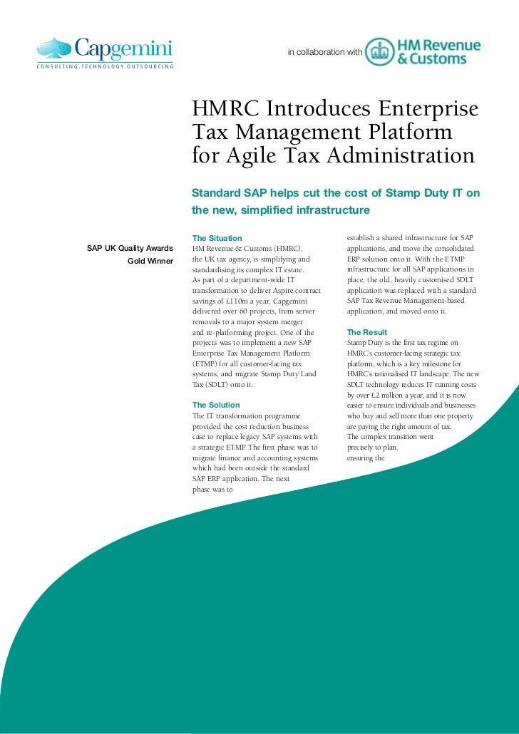 in collaboration with                        HMRC Introduces Enterprise                        Tax Management Platform    ...