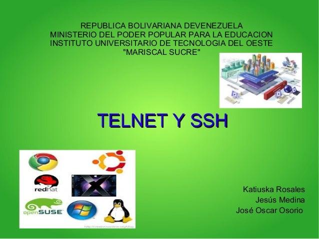 REPUBLICA BOLIVARIANA DEVENEZUELA MINISTERIO DEL PODER POPULAR PARA LA EDUCACION INSTITUTO UNIVERSITARIO DE TECNOLOGIA DEL...