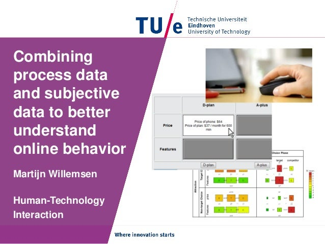 Combining process data and subjective data to better understand online behavior Martijn Willemsen Human-Technology Interac...