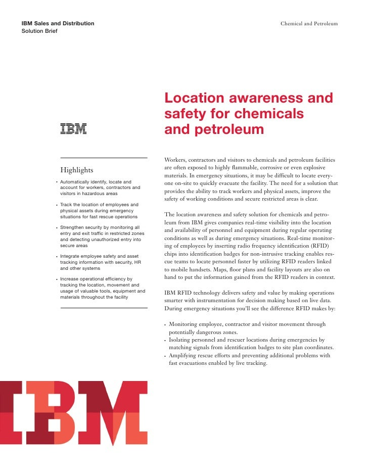 IBM Oil| IBM Safety Solutions: Location Awareness Using Asset Tracking