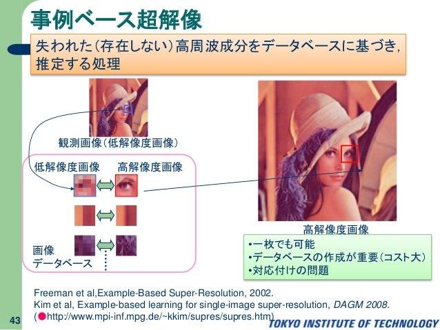 Freeman et al,Example-Based Super-Resolution, 2002. Kim et al, Example-based learning for single-image super-resolution, D...