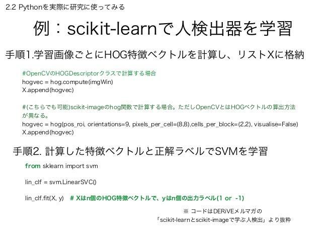 scikit learn svm チュートリアル