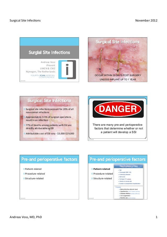 Surgical Site Infec/ons                                                                                             ...
