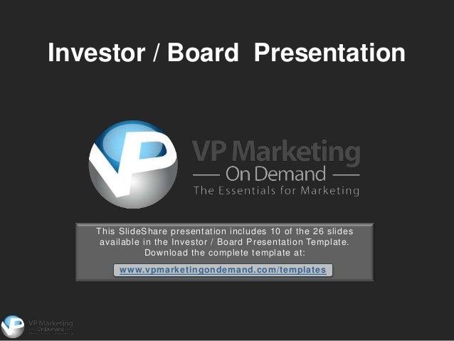 Investor presentation ppt