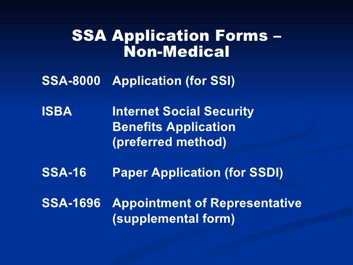 2010 HOME Conference - SSI/ SSDI Application
