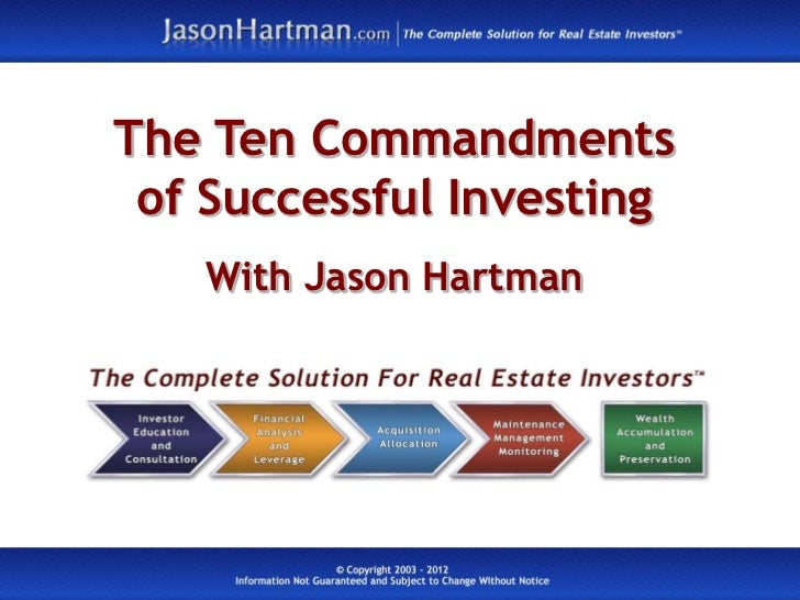 The Ten Commandments of Successful Investing   With Jason Hartman