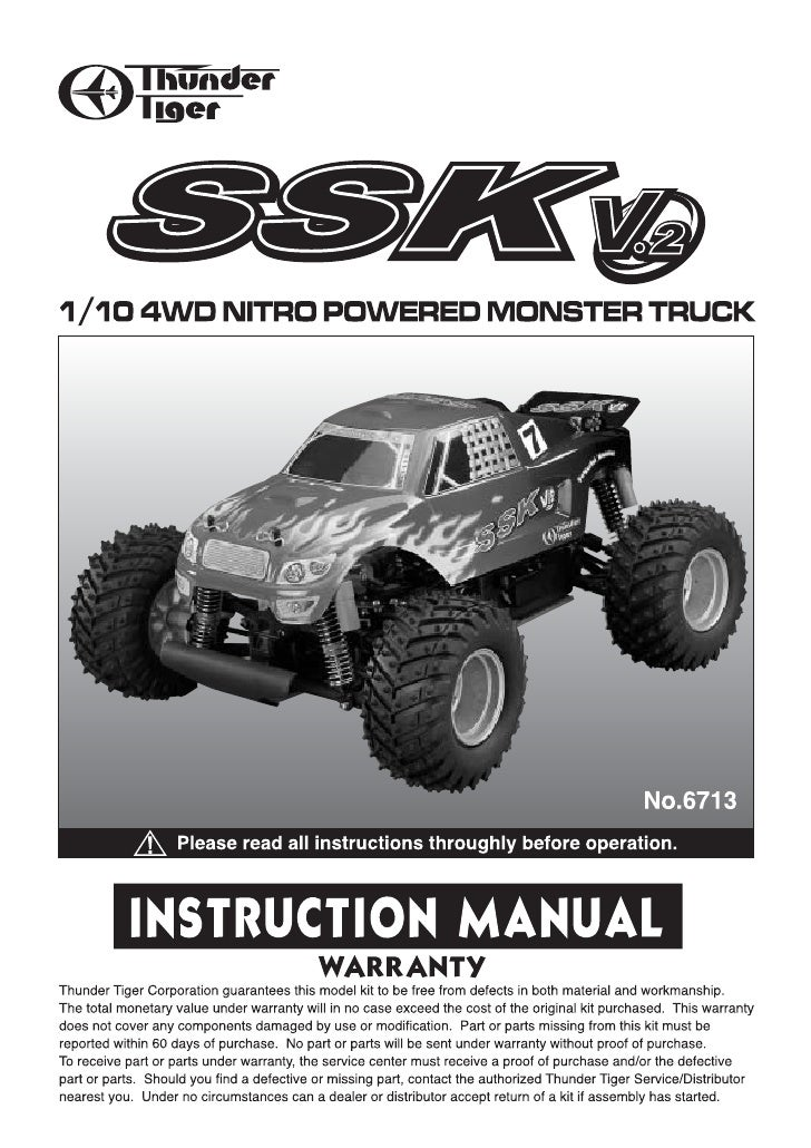 Manuale Monster Truck SSK V2