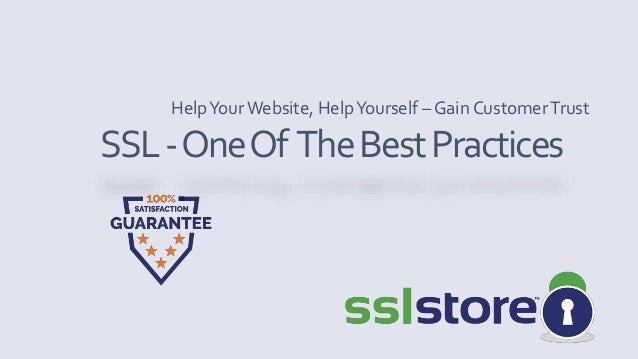 SSL Certificate - One of the Best Practices