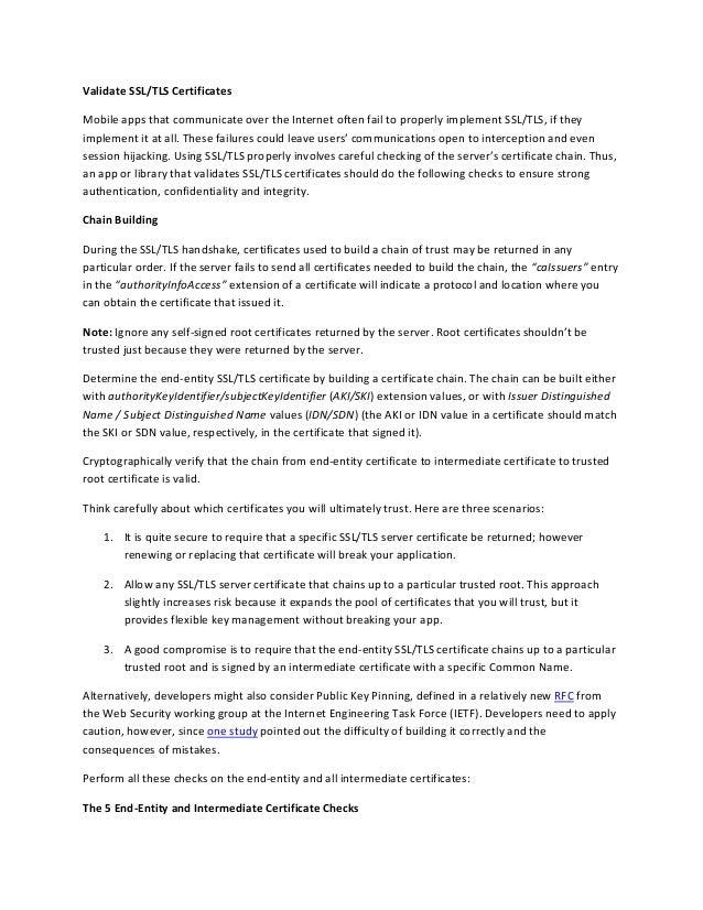Ssl Tls Validation Casecurity Rapidsslonline