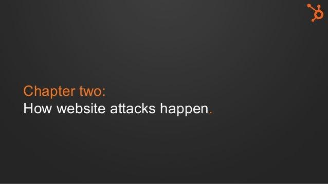Chapter two: How website attacks happen.