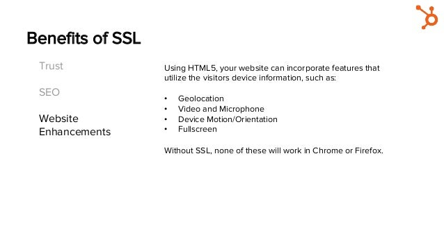 Benefits of SSL Trust SEO Website Enhancements Using HTML5, your website can incorporate features that utilize the visitors...