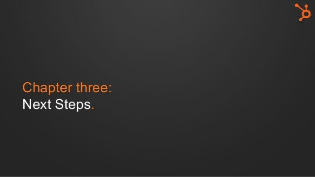 Chapter three: Next Steps.
