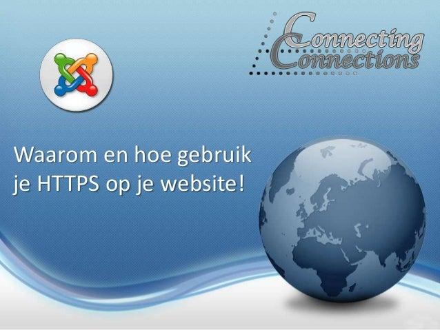 Waarom en hoe gebruik je HTTPS op je website!