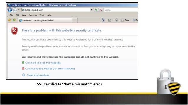 Ssl certificate name mismatch error