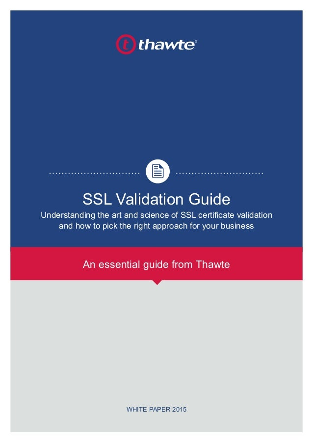 Ssl Certificate Validation Guide By Thawte W Rapidsslonline