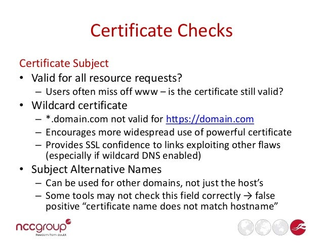 SSL Checklist for Pentesters (BSides MCR 2014)