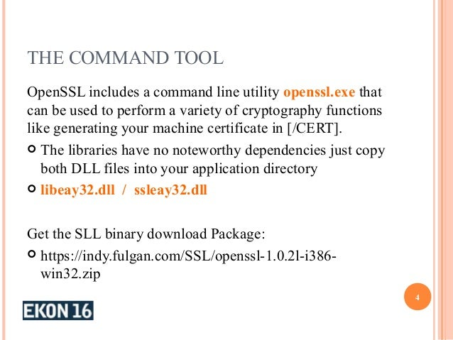 Open SSL and MS Crypto API EKON21