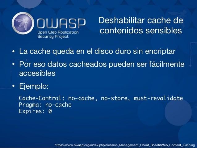 Recursos útiles ● Mozilla SSL Configuration Generator https://mozilla.github.io/server-side-tls/ssl-config-generator/ ● OW...