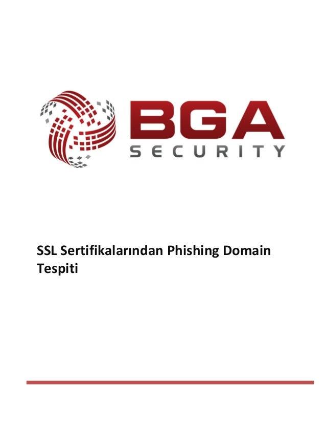 SSL Sertifikalarından Phishing Domain Tespiti