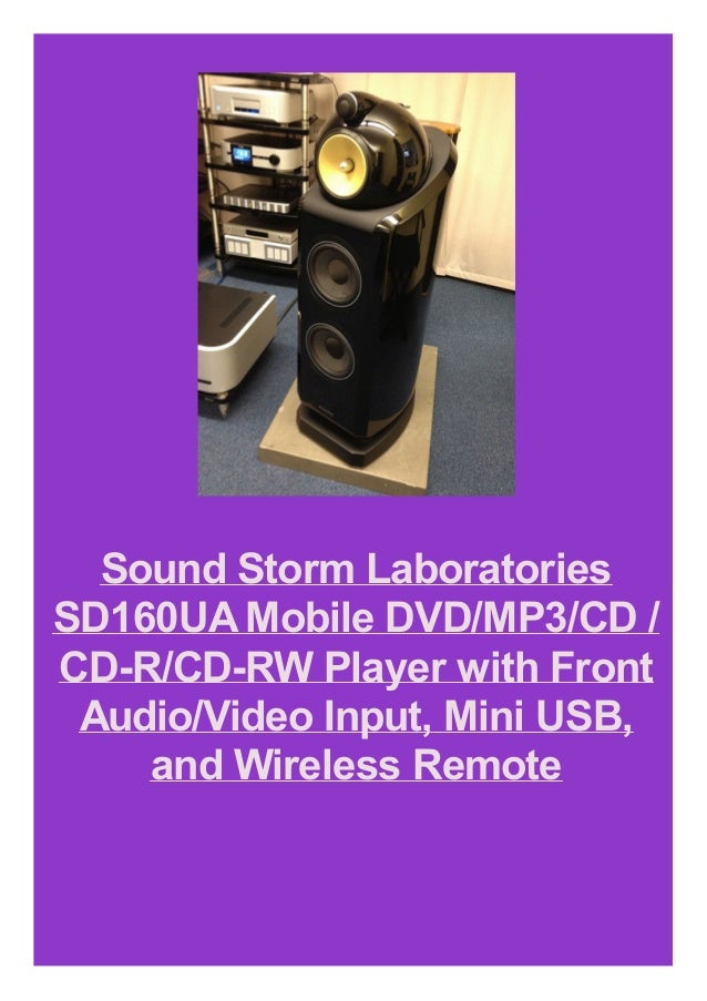 Sound Storm Laboratories SD160UAMobile DVD/MP3/CD / CD-R/CD-RW Player with Front Audio/Video Input, Mini USB, and Wireless...