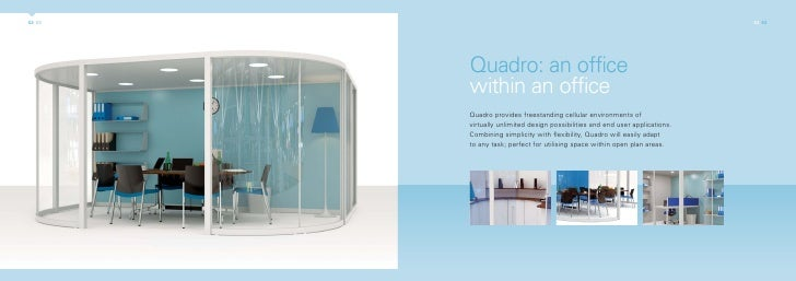 quadro an office within an office quadro provides cellular of virtually unlimited design and end user