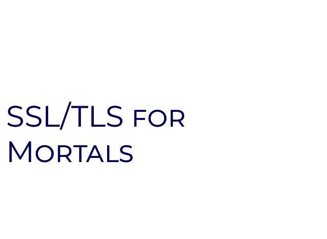 SSL/TLSSSL/TLS MM