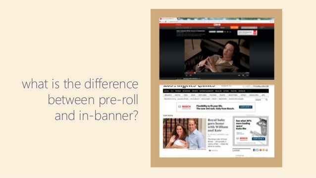 what is the difference between pre-roll and in-banner?