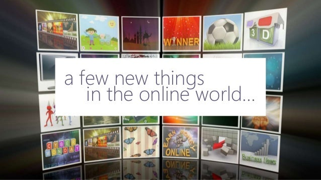 in the online world... a few new things
