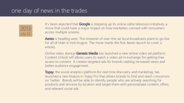 It's been reported that Google is stepping up its online cable television initiatives, a move that could have a major impa...